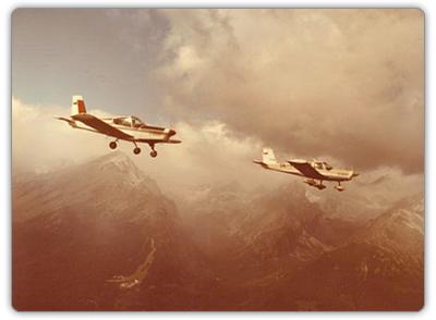 Zlín Z-42 a Z-43 nad Vysokými Tatrami