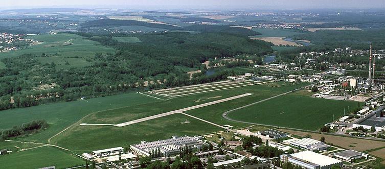 Pohled na letiště Zlín